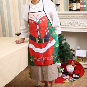 Wholesale Decorative Apron Christmas Apron Bell Skirt Pattern Aprons Hotel Women Cooking Creative Special Deer