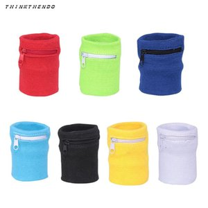 Wholesale THINKTHENDO Fashion New Men Women Wrist Wallet Pouch Band Zipper Running Travel Gym Cycling Safe Coin Purse Change Bag Colors