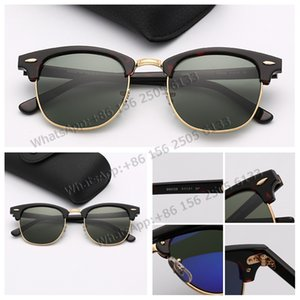 Wholesale Designer Sunglasses Hot Sale Half Frame Sunglasses men Des lunettes De Soleil Fashion Sunglasses for Men with Leather Case Retail Package