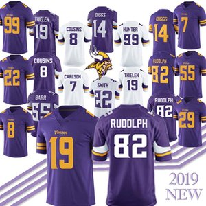 Minnesota Jerseys Vikings 19 Adam Thielen 82 Kyle Rudolph 14 Stefon Diggs 8 Kirk Cousins 55 Anthony Barr 84 Randy Moss Jersey 2019 new on Sale