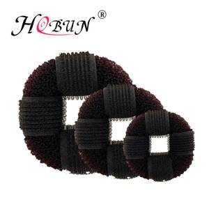 Wholesale HOBUN New Women Brown Hair Bun Donut Maker Braiders Girl Donuts hair Disk Styling French Braiding Tool BN