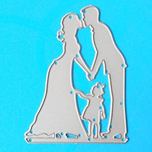 Wholesale crapbooking Stamping Cutting Dies YLCD1015 Family Metal Cutting Dies For Scrapbooking Stencils DIY Album Cards Decoration Embossing Folde
