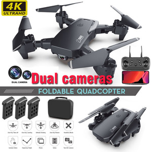 Dual Camera Drone 4K 1080P 720P Mini Folding Fixed Height Aircraft Gesture Photo Four Axis Aerial Remote Control Helicopter drones Toy E60