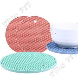 Wholesale 16 Color Table Silicone Pad Silicone Non slip Heat Resistant Mat Coaster Cushion Placemat Pot Holder Kitchen Accessories Cooking Utensils
