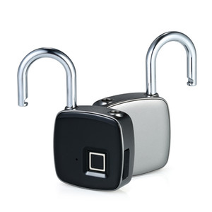 Z1 USB Rechargeable Smart Keyless Fingerprint Lock IP65 Waterproof Anti-Theft Security Padlock Door Luggage Case Lock