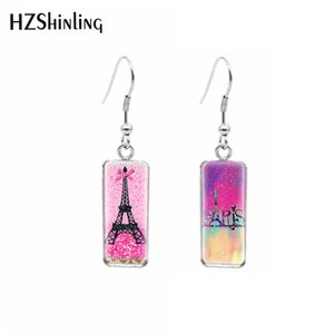 Wholesale HZSHINLING Stainless Steel Square French Hook Earring Paris Eiffel Tower Earrings Summer Accessory Ears Handmade Jewelry