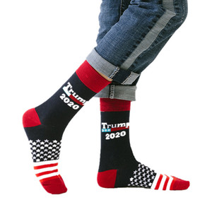 Wholesale Unisex Man Woman Knit Socks President Donald Trump Mid calf Sock US Presidential ElectionPrint Middle Long Socks Party Gift Colors