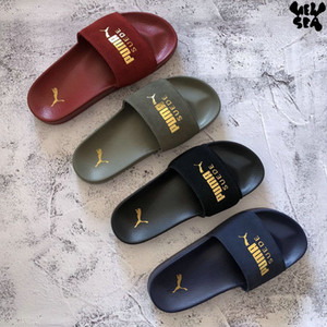 Wholesale 2019 Leadcat Suede Women Men Slides Summer Luxury Designer Beach Indoor Flat Creepers Shoes Brand Mens Sandals Slippers House Flip Flops