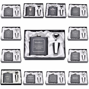 Personalized Engraved 6oz Hip Flask Stainless Steel With White & Black Box Birthday Valentine's Day Gift Wedding Favors