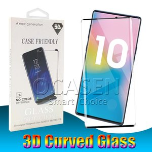 Wholesale Case Friendly D Curved Tempered Glass For Samsung S8 S9 Plus Note Small Version Screen Protector With Retail Package