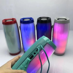 Wholesale TG157 Portable LED Lamp Speaker Waterproof Fm Radio Wireless Boombox Mini Column Subwoofer Sound Box Mp3 USB Phone Computer Bass DHL ship