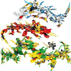 Wholesale People s Phantom Ninja Dragon Knight Kids Early Teach Puzzle Toys Small Particle Blocks