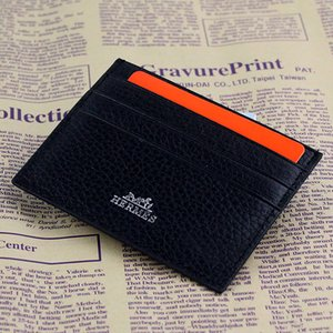 Wholesale Slim Men Clutch Billfold Wallet Credit ID Card Holder Thin Purse Bank Card Package Coin Pouch Bag Business Women Real Leather ID Card Case