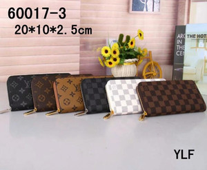 Wholesale Brand new men and women holding a purse single zipper banknotes folder card wallet no box color hot selling
