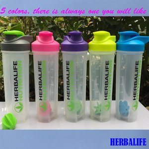 Wholesale New Herbalife Smoothie Leakproof Shaker Bottles With Scale 700ml Blender Cup Hand Coffee Sports Bottle Q190525