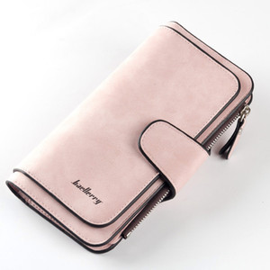 Wholesale 2018 New Arrival Women Big Capacity Wallet Fold Purse Scrub PU Leather Money Coin Cards Holder Wallets Popular
