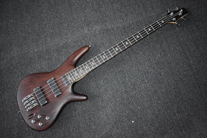 Wholesale Factory Custom Special Price Brown Electric Bass Guitar with Strings Ash Body Chrome Hardware Can be Customized