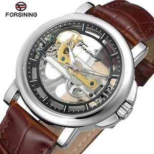 Wholesale Forsining New Fashion Waterproof Mens Watches Top Brand Luxury Automatic Watch Men Skeleton Watch Silver Mechanical