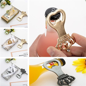 Wholesale Personalized Crown Beer Bottle Opener Creative Botter Opener Presents For Baby Shower Guest Giveaways Party Favors KD1006