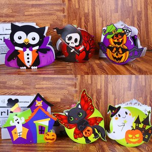 new children's DIY Halloween Handbag Candy bag kindergarten gift bag spoofs Halloween Candy Collection BagStorage bags Gift WrapT2I5342 on Sale