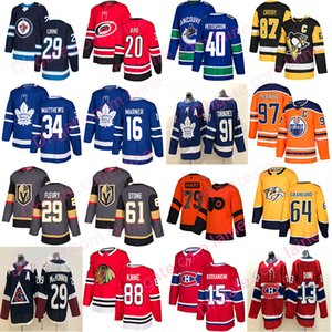 Wholesale 2019 New Hockey jersey Toronto Maple Leafs chicago blackhawks Vegas Golden Knights 61 Stone40 Pettersson Edmonton Oilers 97 hockey jerseys
