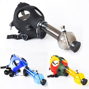 Wholesale Gas Mask with Acrylic Smoking Bong Silicone Pipe Tabacco Shisha smoke pipe water pipe smoke accessory