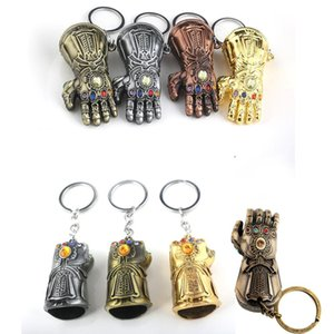 Marvel Avengers Thanos gloves Keychain Infinity War Gauntlet Endgame gloves Alloy Key Chain Kids Toys Halloween Supplies LJJ-AA2342