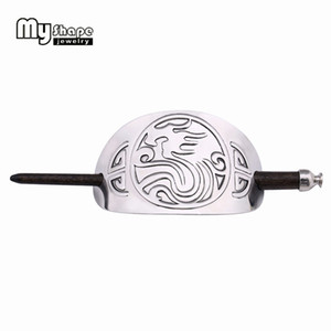 My Shape Vintage Plug-in Hairpins Dragon Totem Hair Clips Head Headdress Hair-Holder Charms with Stick Headbands Women Jewelry