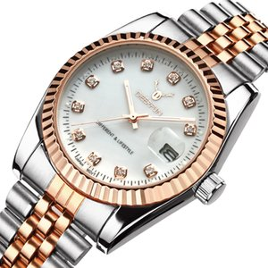 Famous Brand Fashion Luxury Steel Metal band ROSE GOLD Bracelet watch for Men and Women Gift Dress Watches relogio