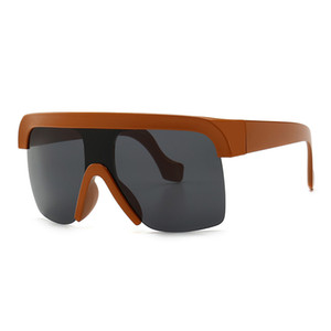 ingrosso occhiali da sole boutique-Retro Flat Top Occhiali da sole Modern Big Frame Sunglasses Nuovi modelli Trend Street Sunglasses Fashion Boutique Accessories
