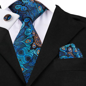 Wholesale Hi Tie Hot Blue Floral Tie Most Popular Silk Jacquare Woven Ties for Men Luxury Design Men Dress Tie Set Gravats SN