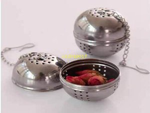 Wholesale 100pcs Stainless Steel Tea Infuser Ball Shaped Tea Strainer Mesh Tea Filter Spoon Locking Spice Ball