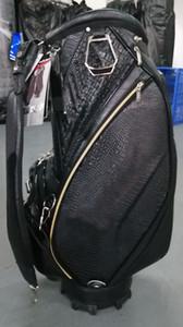 "staff golf bag 2019 new style Crocodile pattern Ti CB914 Golf caddie Bag 9"" in black OEM available"