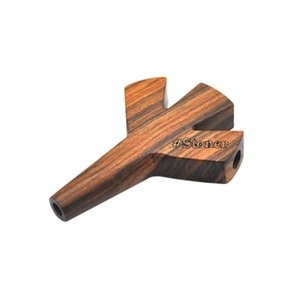 Wholesale wood burning resale online - Handmade Wood Pipes Series Three hole and Three hole Pipes Burn Resistant