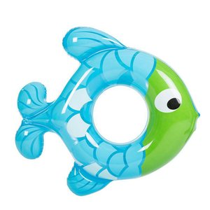 Inflatable Lap Swimming Pool Baby Swim Float Rubber Ring Fish Shape Baby Swimming Circle Kids Pool Safety Child Toys