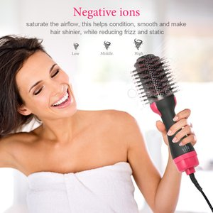 Wholesale Multifunctional Hair Dryer Hair Straightener Curly Hot Hair Dryer Ion Women in Hot Air Brush Tools
