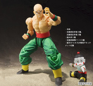 Wholesale Anime Dragon Ball Z SHF Figuarts Tien Shinhan Chiaotzu Joint Movable PVC Action Figure Collection Model Kids Toy Doll cm