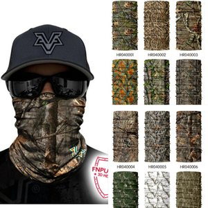 Wholesale 3D Jungle Tree Camo Neck Gaiter Face Shield Tube Camouflage Military Cycling Hunting Airsoft Fishing Tactical Bandana Scarf Sports Mask