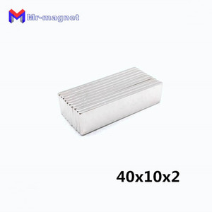 2019 imanes imanes de nevera fridge 20pcs 40x10x2mm rare earth permanet magnet powerful block neodymium magnets 40*10*2 40x10x2 for motors