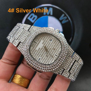 Wholesale New Fashion Mens Luxury Designer Watch High Quality Geneva Quartz Brand Automatic Diamond Wristwatch Logo PP Watch