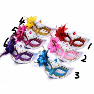Wholesale New Halloween Mask Female Half Face Sexy Retro Cute Children Mask Ball Party Princess Adult Mask