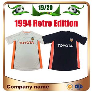 2006 2007 Valencia Retro home soccer Jersey 06 07 Edu #22 Villa Morientes Del Horno Baraja Regueiro Football uniform shirt