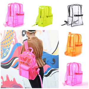 Wholesale Fashion Transparent PVC Backpack Girl Beach Waterproof Plastic Jelly Bag Student Waterproof Storage Bag Types T3I5275