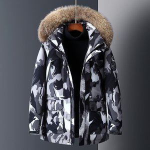 Wholesale 2019 the high quality designer Europe and the United States popular new men s thick body camouflage down jacket one side hair