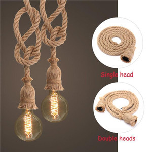 Wholesale Hemp Rope Electric Wire Homekit Lamp Holder Cord Diy E27 Bulb Pendant Light Industrial Light Electrical Wire Homekit Lamp Base