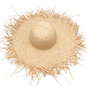 Wholesale 2018 NEW Handmade Women Straw Sun Hats Large Wide Brim Gilrs High Quality Natural Raffia Panama Beach Straw Sun Caps For