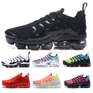Size US 13 New 2019 Geometric Active Fuchsia Black TN Plus Running Shoes for Mens Women Grid Print Lemon Lime Bumblebee Sports Sneakers