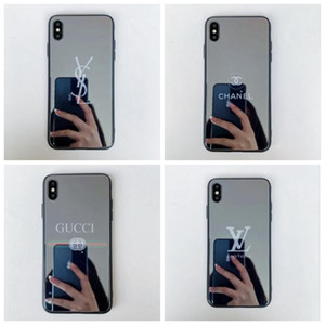Wholesale 19ss New designer brand mirror mobile phone case for the iPhone X XR Xs Max S plus luxury shockproof Cover A08
