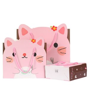 Wholesale 2019 New hot sale Cute Animal Children s Day Paper Gift Bag with Handles Baby Shower Kids Birthday Party Favor Bags