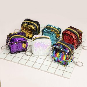 Fashion Women Children Kids Sequins Coin Purse Wallet Girl Zipper Clutch Coin Earphone Package Handbag Purse Bags Pouch on Sale